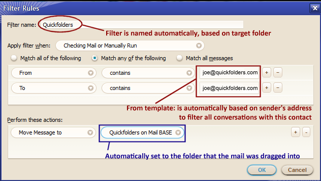 quickFilters for SeaMonkey screenshot 1