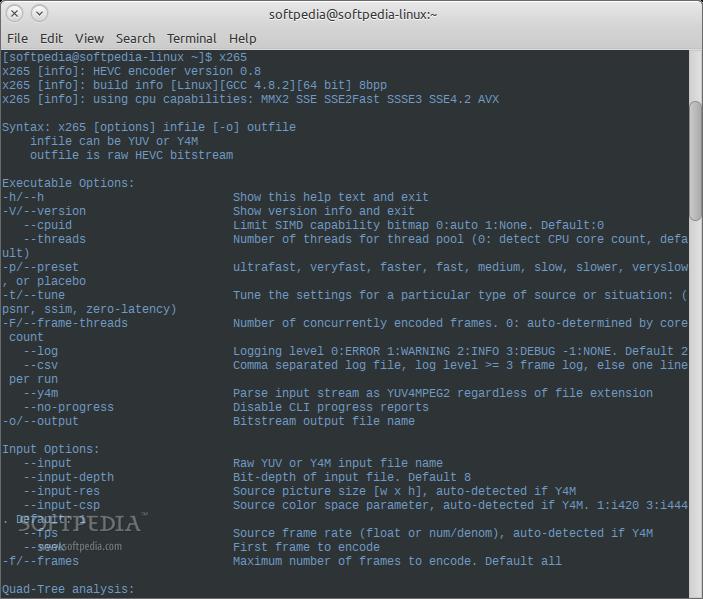 Download x265 Linux 3 1 2